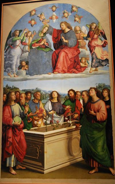 le Couronnement de la Vierge, Raphaël