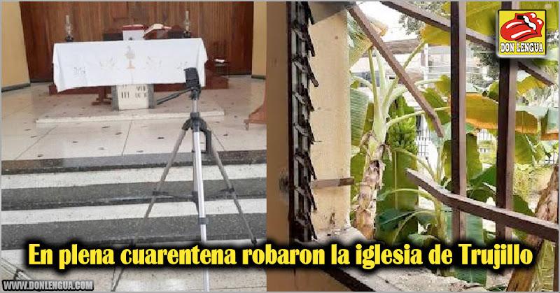 En plena cuarentena robaron la iglesia de Trujillo
