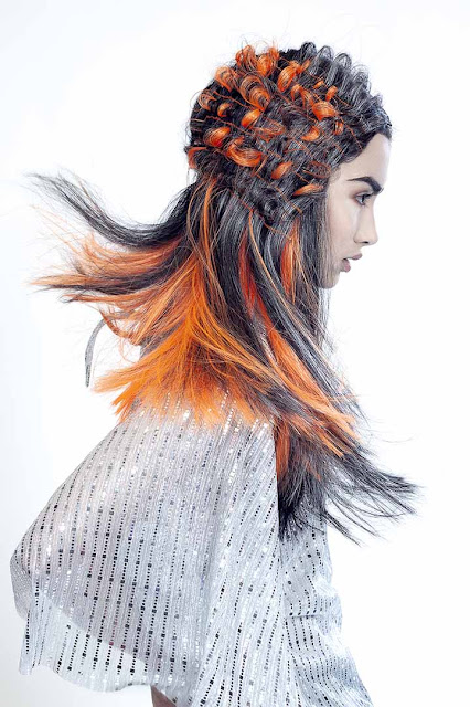 colores de pelo naranja-gris