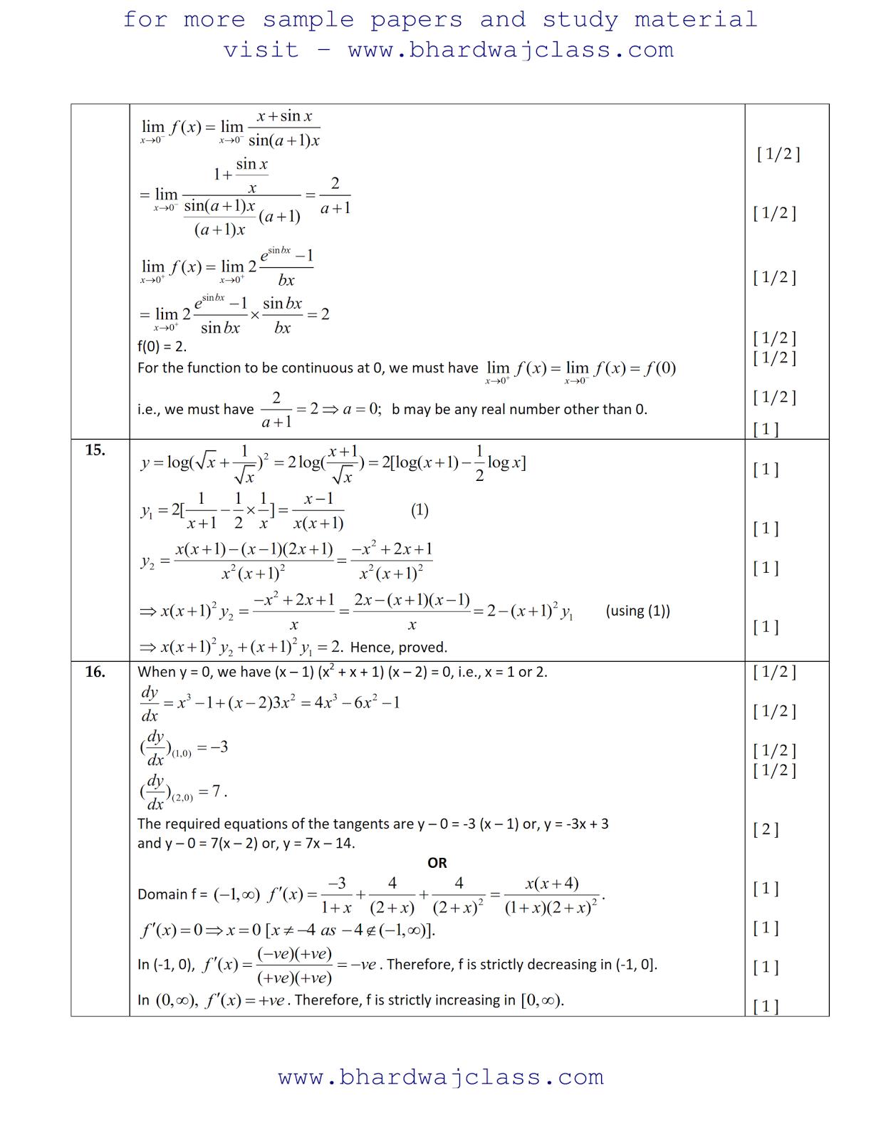 MATHS SAMPLE PAPER SOLUTION 2017-18