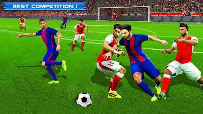 كرة القدم لعبة الملاعب على الموبايلات