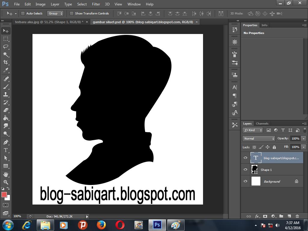 tutorial siluet digital dengan Photoshop - Belajar Bersama