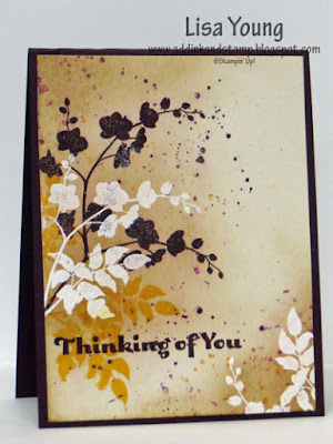 Stampin' Up! World of Dreams stamp set. Handmade thinking of you card by Lisa Young, Add Ink and Stamp