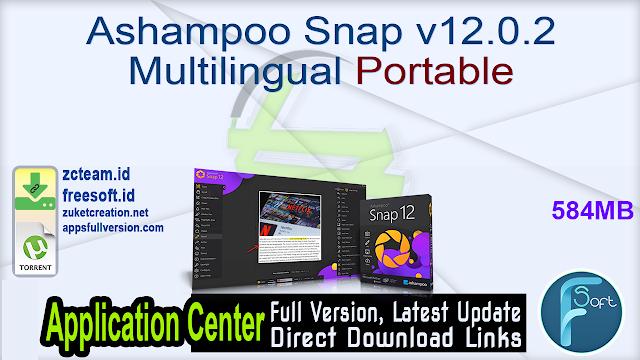 Ashampoo Snap v12.0.2 Multilingual Portable