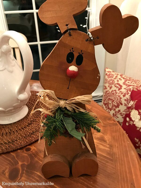 Tabletop Wooden Christmas Reindeer