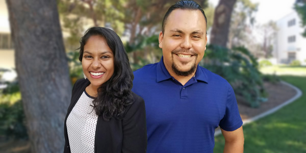 Stephanie Mathew and Oscar Duran