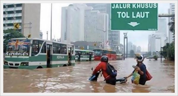 jalur khusus banjir tol laut jakarta