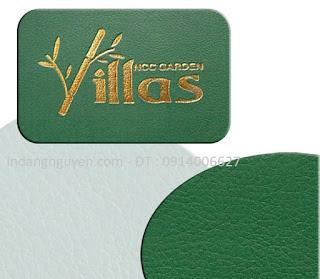 Dịch vụ In logo lên bìa da, sổ da, menu da, ví da