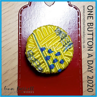 One Button a Day 2020 by Gina Barrett - Day 15 : Motley