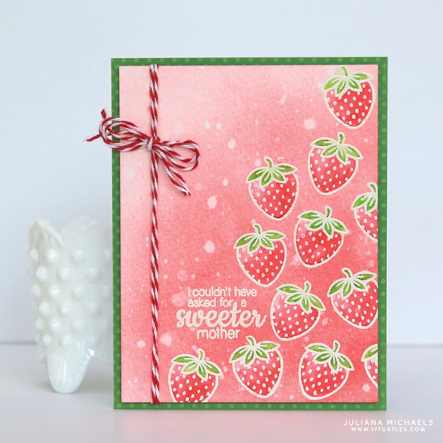 Sunny Studio Stamps: Fresh & Fruity Strawberry Card by Juliana Michaels