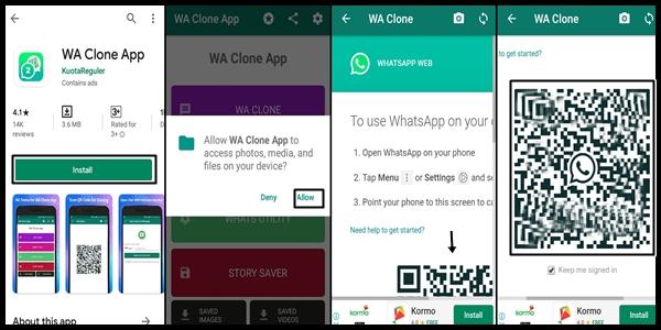 Cara Menggunakan WA Clone App di Semua HP