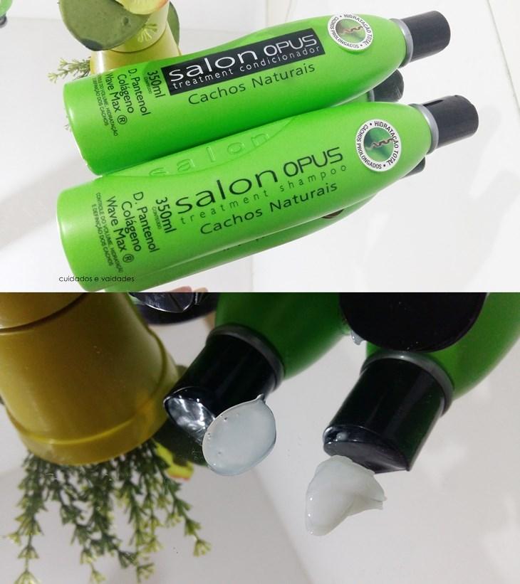 Shampoo e Condicionador Cachos Naturais Salon Opus