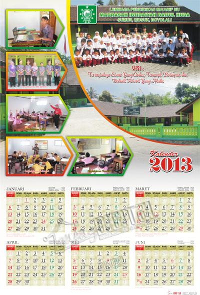 Desain Kalender 2 Lembar (6 Bulan) - Gubug Gallery
