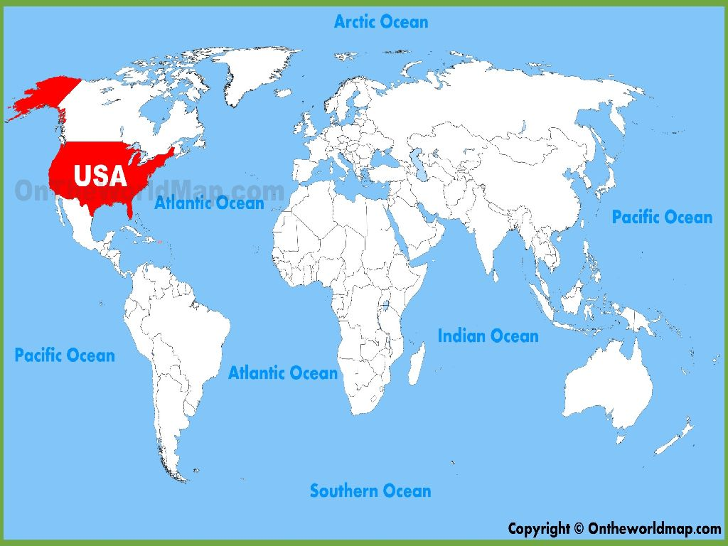 world map of united states of america