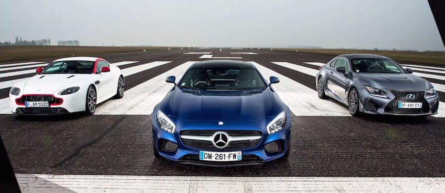 「メルセデスAMG GT S」と「アストンマーチンN430」「レクサスRC F」の加速対決!