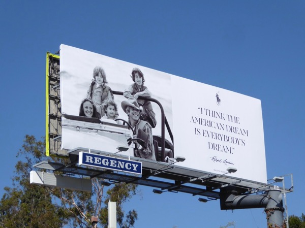 Ralph Lauren American Dream billboard