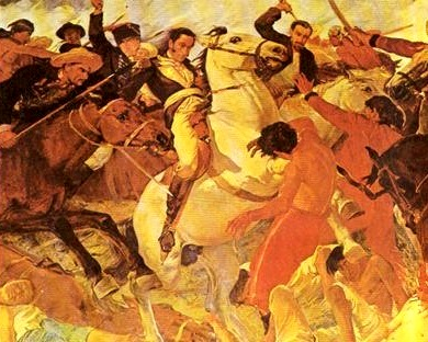 Dibujo de la Batalla de Boyacá para niños