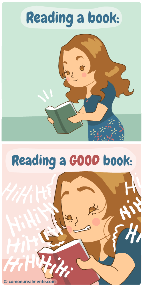 When I read a good book