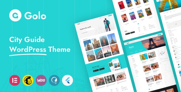 Golo V.1.3.0 - City Guide WordPress Theme