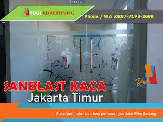 Jasa pemasangan Sanblast Jakarta Timur