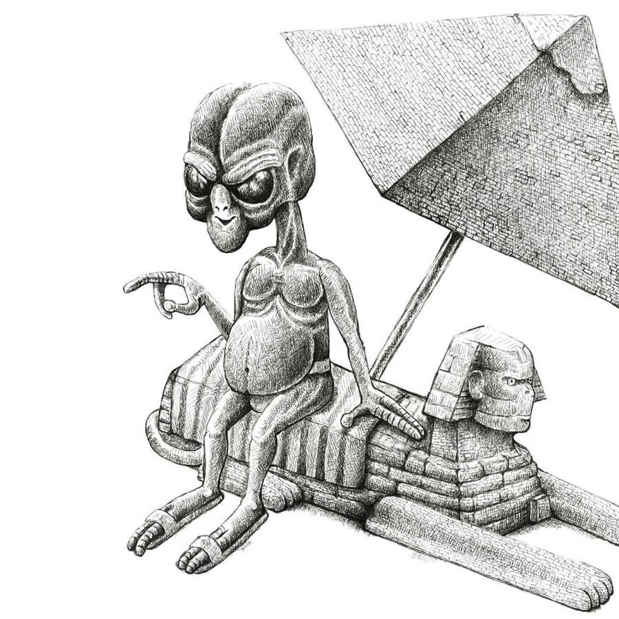 05-Aliens-Sphinx-and-Pyramids-Tim-Andraka-www-designstack-co
