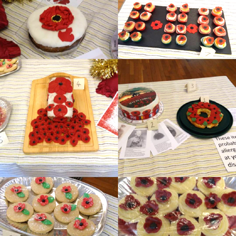 Poppy Bake Off entries