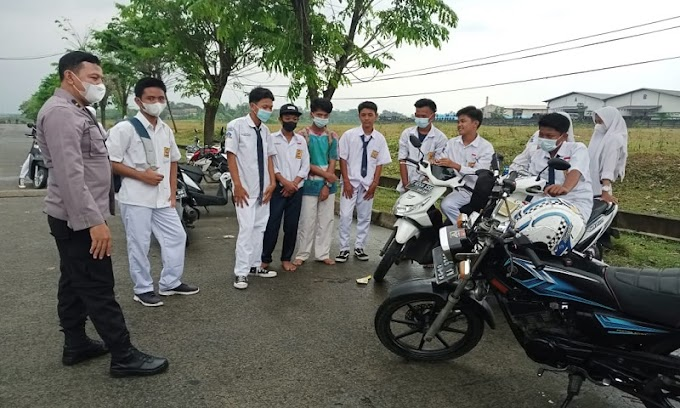 Jumpai Pelajar SMP Sedang Nongkrong Saat Patroli, Polsek Cikande Berikan Edukasi Prokes