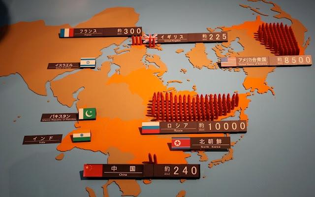 peta persebaran senjata nuklir yang ada di dunia