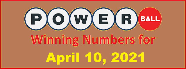 PowerBall Winning Numbers for Saturday, April 10, 2021