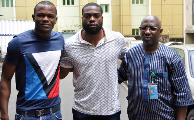 Photos: Keshi's Son & Daughter Arrive Nigeria From US Ahead Of Father's Burial