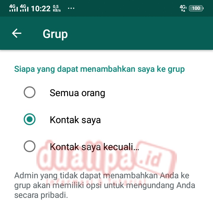 Cara Tolak Masuk Grup Whatsapp