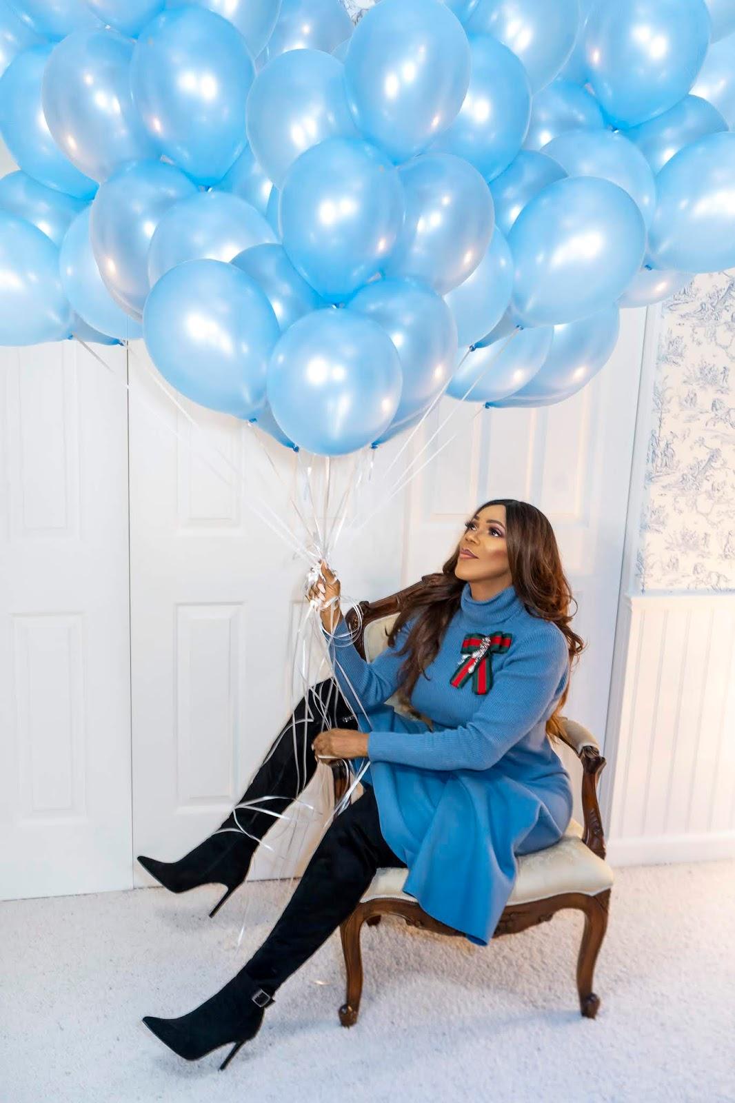 Classic Blue Birthday Look