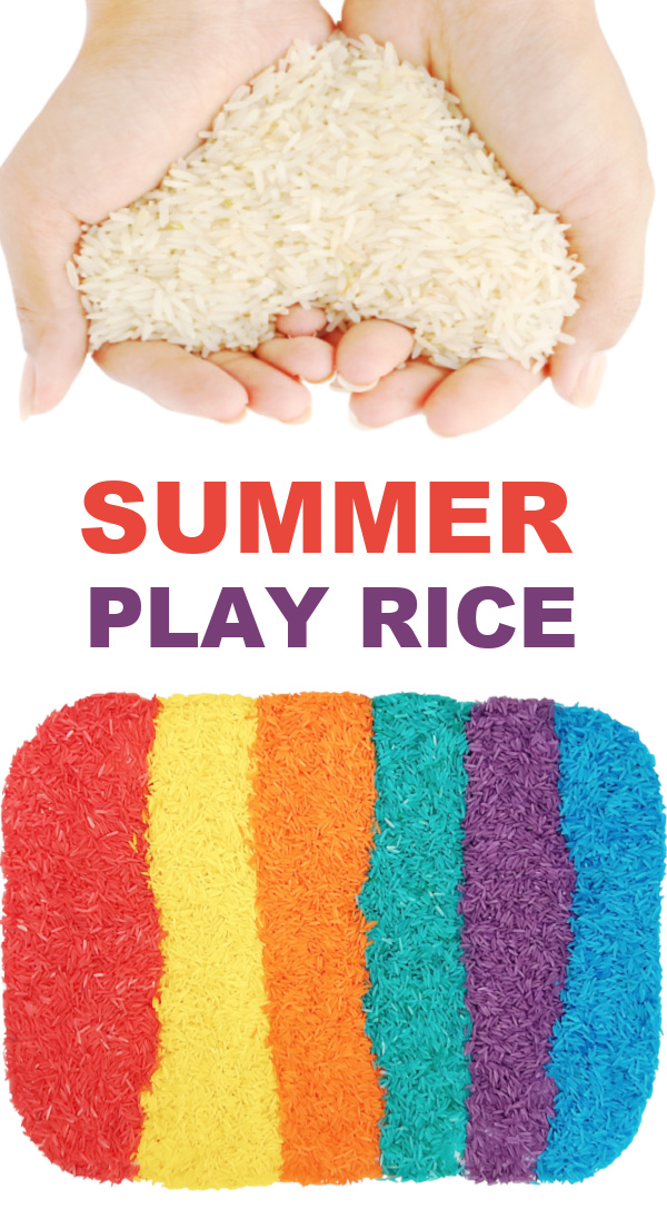 Make play rice for kids using Kool-aid!  Easy recipe and less messy than sand. #koolaiddyedrice #riceforkids #howtodyerice #ricerecipes #growingajeweledrose #activitiesforkids