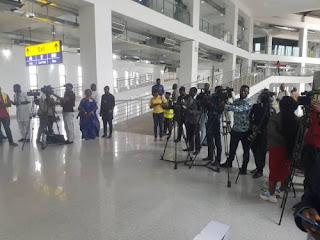 JUST IN: Drama At Airport As DSS Wheels El-Zakzaky Through Back Door