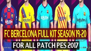 Barcelona Full Kitset 19-20 by DZPLAYZ For PES2017
