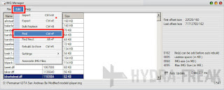 Cara mencari file dengan IMG Manager V1.5