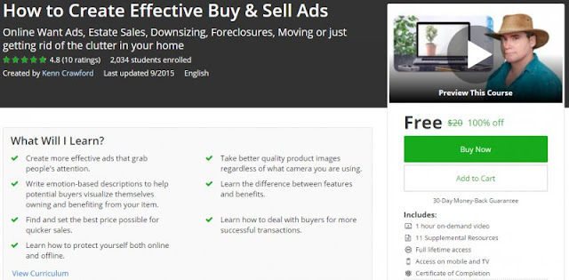 [100% Off] How to Create Effective Buy & Sell Ads | Worth 20$