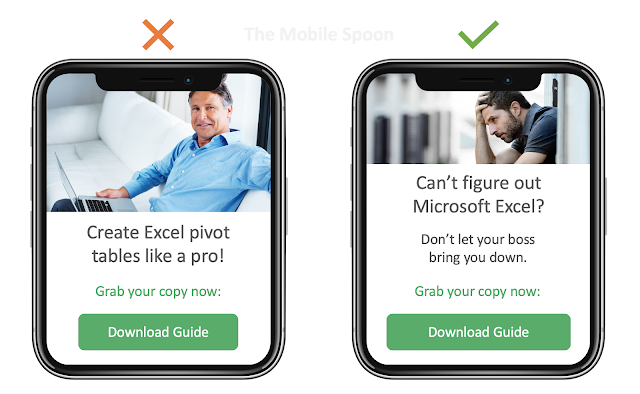 Negativity Bias - Illustrate your product value by the negative experience it resolves - the mobile spoon