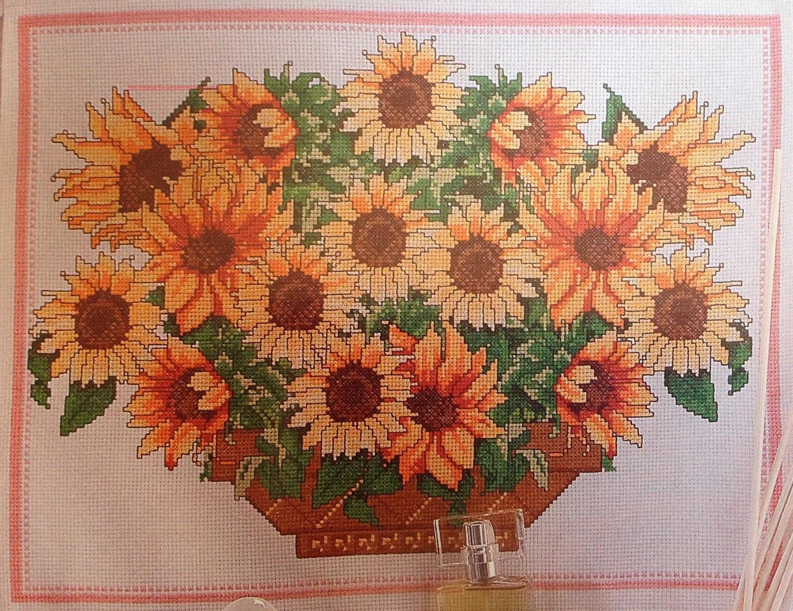 Graficos Punto De Cruz Gratis Flores 27