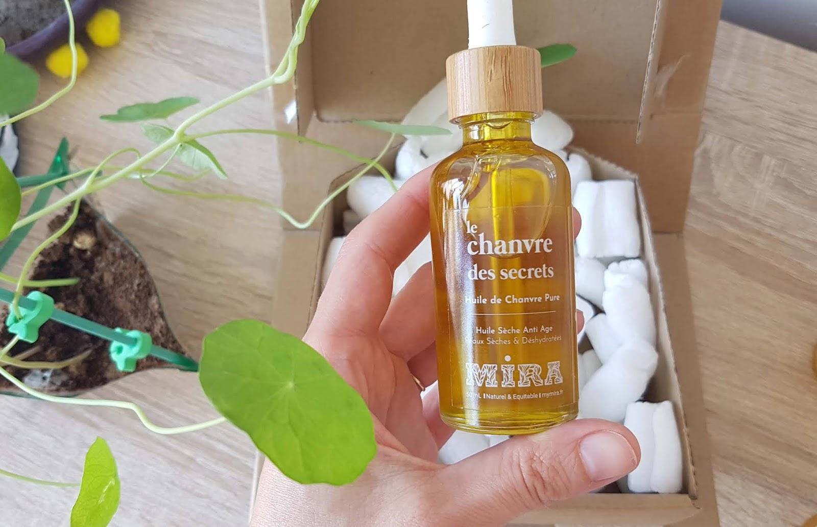 huile vegetale de chanvre pour le visage