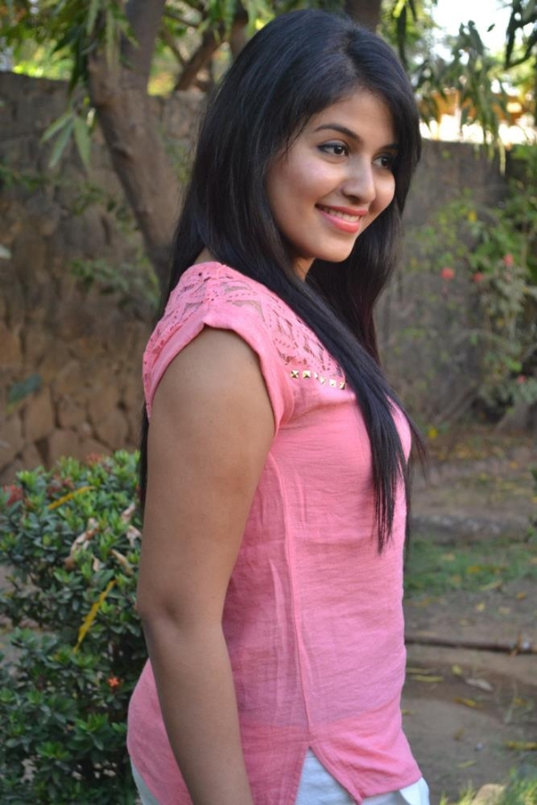 Anjali Hot Photoshoot Stills In Pink Top White Pant