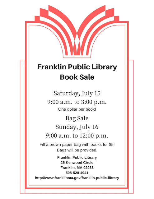 Franklin Public Library Book Sale - Saturday and Sunday July 15-16