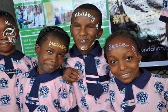 Blind Children smiling