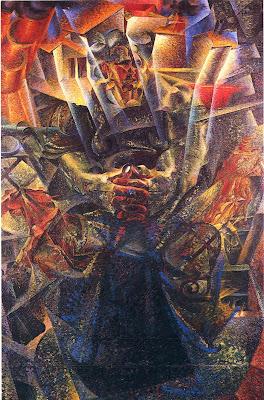 Umberto Boccioni, materia, 1912