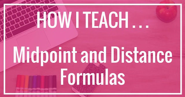 This is a cute way to help students remember the midpoint and distance formulas!  This activity really helps my high school geometry students remember the lesson.