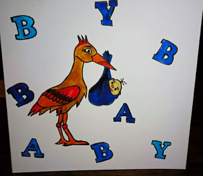 Cute Baby Announcement Card