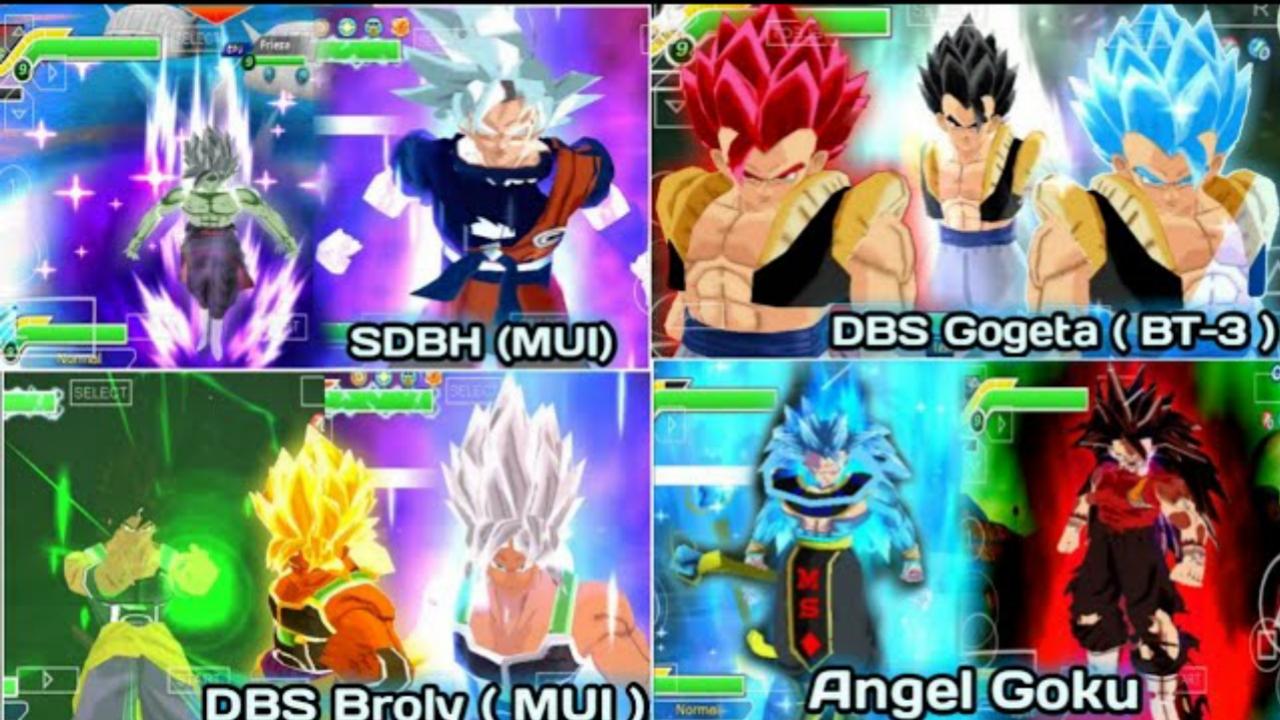 DBZ TTT Mods 2020, DBZ TTT New Mods, DBZ Games PSP