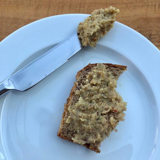 vegane Leberwurst, vegan breadspread,