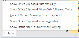 Clipboard options