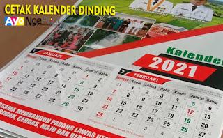 tempat cetak kalender dinding murah terdekat di Cabangbungin, Bekasi
